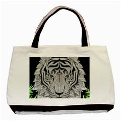 Tiger Head Basic Tote Bag