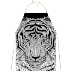 Tiger Head Full Print Aprons