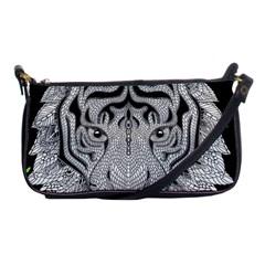 Tiger Head Shoulder Clutch Bags