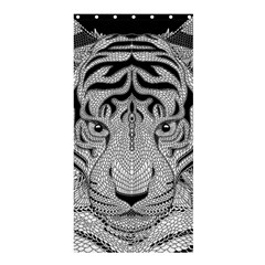 Tiger Head Shower Curtain 36  X 72  (stall)