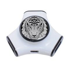 Tiger Head 3 Port Usb Hub