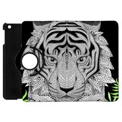 Tiger Head Apple Ipad Mini Flip 360 Case