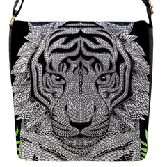 Tiger Head Flap Messenger Bag (s)