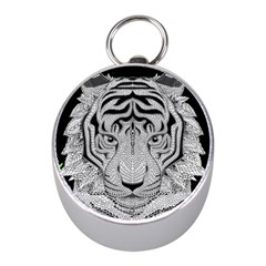 Tiger Head Mini Silver Compasses