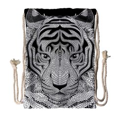 Tiger Head Drawstring Bag (large)