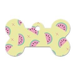 Watermelon Wallpapers  Creative Illustration And Patterns Dog Tag Bone (one Side)