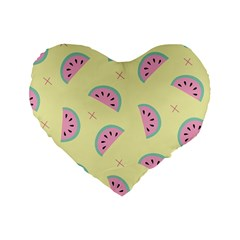 Watermelon Wallpapers  Creative Illustration And Patterns Standard 16  Premium Heart Shape Cushions