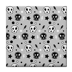 Skull Pattern Tile Coasters