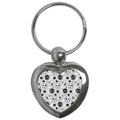 Skull Pattern Key Chains (heart)