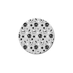 Skull Pattern Golf Ball Marker