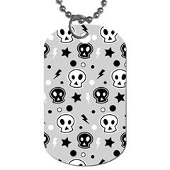 Skull Pattern Dog Tag (two Sides)