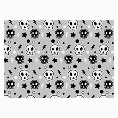 Skull Pattern Large Glasses Cloth