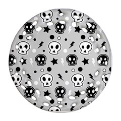 Skull Pattern Round Filigree Ornament (two Sides)