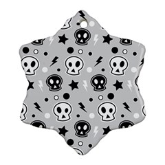 Skull Pattern Snowflake Ornament (two Sides)