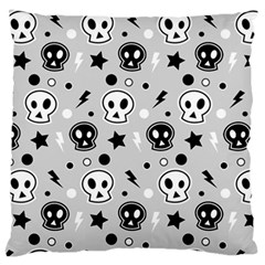 Skull Pattern Standard Flano Cushion Case (one Side)