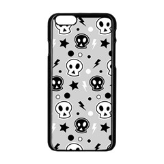 Skull Pattern Apple Iphone 6/6s Black Enamel Case