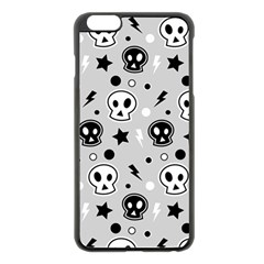 Skull Pattern Apple Iphone 6 Plus/6s Plus Black Enamel Case