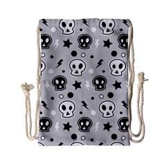 Skull Pattern Drawstring Bag (small)