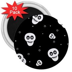 Skull Pattern 3  Magnets (10 Pack)