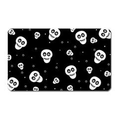 Skull Pattern Magnet (rectangular)