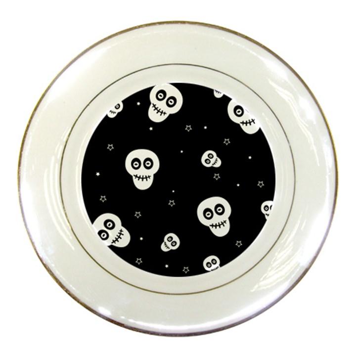 Skull Pattern Porcelain Plates