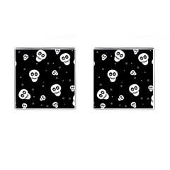 Skull Pattern Cufflinks (square)