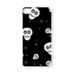 Skull Pattern Apple Iphone 4 Case (white)