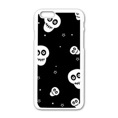 Skull Pattern Apple Iphone 6/6s White Enamel Case