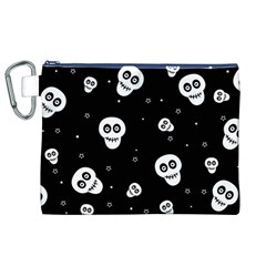 Skull Pattern Canvas Cosmetic Bag (xl)