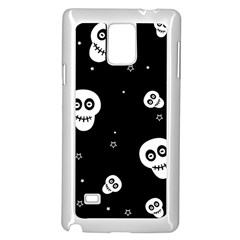 Skull Pattern Samsung Galaxy Note 4 Case (white)