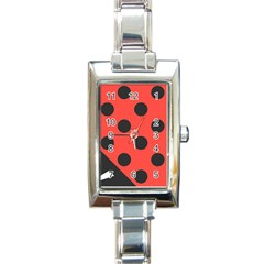 Abstract Bug Cubism Flat Insect Rectangle Italian Charm Watch