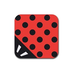 Abstract Bug Cubism Flat Insect Rubber Coaster (square)