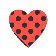 Abstract Bug Cubism Flat Insect Heart Magnet