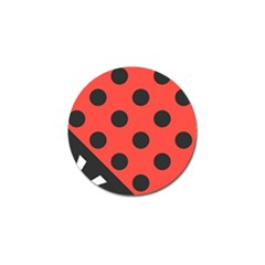 Abstract Bug Cubism Flat Insect Golf Ball Marker