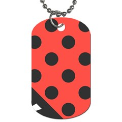 Abstract Bug Cubism Flat Insect Dog Tag (two Sides)