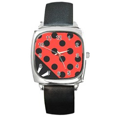 Abstract Bug Cubism Flat Insect Square Metal Watch