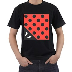 Abstract Bug Cubism Flat Insect Men s T Shirt (black) (two Sided)
