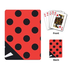 Abstract Bug Cubism Flat Insect Playing Card