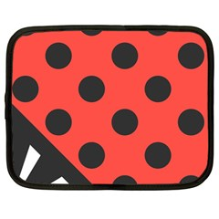 Abstract Bug Cubism Flat Insect Netbook Case (large)