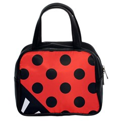 Abstract Bug Cubism Flat Insect Classic Handbags (2 Sides)