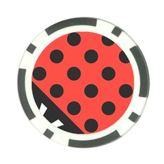 Abstract Bug Cubism Flat Insect Poker Chip Card Guard (10 Pack)