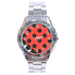 Abstract Bug Cubism Flat Insect Stainless Steel Analogue Watch