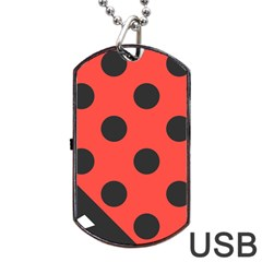 Abstract Bug Cubism Flat Insect Dog Tag Usb Flash (one Side)