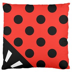 Abstract Bug Cubism Flat Insect Large Flano Cushion Case (one Side)