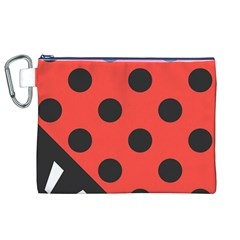 Abstract Bug Cubism Flat Insect Canvas Cosmetic Bag (xl)