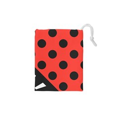 Abstract Bug Cubism Flat Insect Drawstring Pouches (xs)