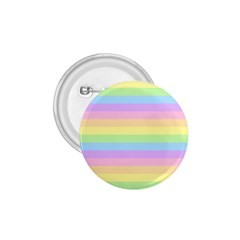 Cute Pastel Rainbow Stripes 1 75  Buttons