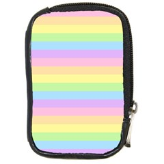 Cute Pastel Rainbow Stripes Compact Camera Cases