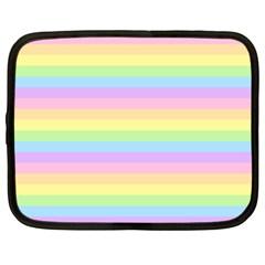 Cute Pastel Rainbow Stripes Netbook Case (xxl)