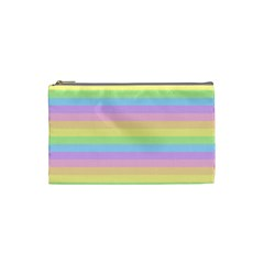 Cute Pastel Rainbow Stripes Cosmetic Bag (small)